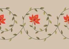 Modello floreale del confine del ricamo illustrazione di stock