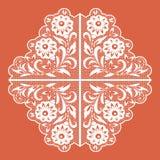 Modello floreale del pizzo Illustrazione di vettore Royalty Illustrazione gratis