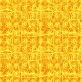 Modello floreale del plaid di vettore senza cuciture in arancio ed in giallo illustrazione di stock