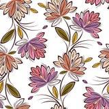 Modello floreale del tessuto senza cuciture immagini stock libere da diritti