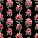 Modello floreale dell'acquerello Fotografia Stock