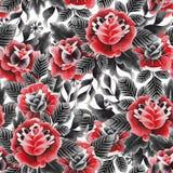 Modello floreale dell'acquerello Immagine Stock