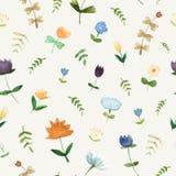 Modello floreale dell'acquerello - illustrazione Immagini Stock