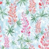 Modello floreale dell'acquerello senza cuciture Immagini Stock Libere da Diritti