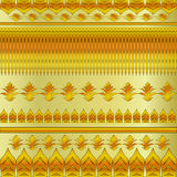 Modello floreale dell'oro Fotografia Stock