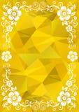 Modello floreale dell'oro royalty illustrazione gratis