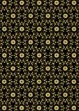 Modello floreale dell'oro senza cuciture su fondo nero Immagini Stock Libere da Diritti