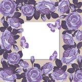 Modello floreale della carta con la struttura vuota Fotografia Stock