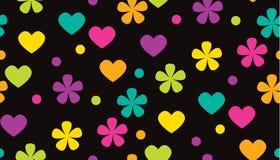 Modello floreale di colore tropicale astratto del pois Fotografia Stock