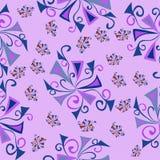 Modello floreale di rosa di fantasia della carta da parati Immagine Stock
