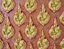 Modello floreale dorato nello stile tailandese tradizionale Fotografia Stock
