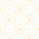 Modello floreale dorato su fondo bianco Fotografia Stock Libera da Diritti
