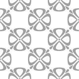 Modello floreale grigio su bianco Fondo senza cuciture illustrazione vettoriale