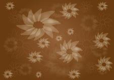Modello floreale marrone d'annata Fotografie Stock