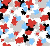 Modello floreale senza cuciture d'avanguardia nel vettore illustrazione di stock