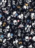 Modello floreale senza cuciture d'avanguardia Progettazione del tessuto illustrazione vettoriale