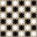 Modello floreale senza cuciture in un modello della scacchiera Fotografia Stock Libera da Diritti