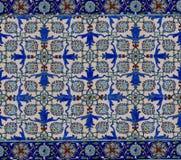 Modello floreale sulle vecchie mattonelle turche Fotografie Stock Libere da Diritti
