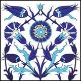 Modello floreale turco blu delle mattonelle Fotografia Stock Libera da Diritti