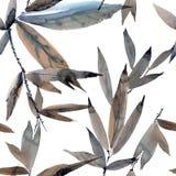 Modello fogliato dell'acquerello Fotografia Stock