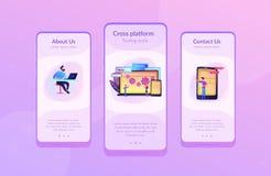 Modello fondante dell'interfaccia del app dell'insetto della multipiattaforma royalty illustrazione gratis