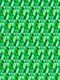 Modello/fondo triangolari verdi senza cuciture di vettore Immagine Stock