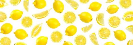 Modello fotografico del limone giallo fresco Fotografie Stock
