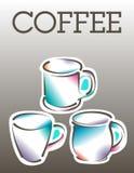 Modello fresco del manifesto del caffè Fotografia Stock