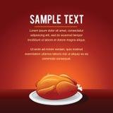 Modello Fried Chicken del fondo di vettore degli alimenti a rapida preparazione Immagine Stock