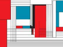 Modello funky di stile di Mondrian royalty illustrazione gratis