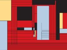 Modello funky di stile di Mondrian illustrazione vettoriale