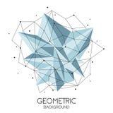 Modello futuristico astratto poligonale, poli segno basso su fondo bianco Linee di vettore, punti e forme del triangolo illustrazione vettoriale