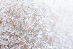Modello gelido sul di vetro (fuoco selettivo usato) Fotografie Stock Libere da Diritti