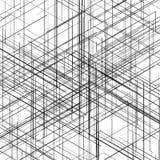 Modello generato da computer isometrico astratto 3D Fotografia Stock
