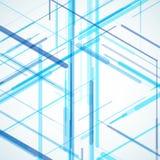 Modello generato da computer isometrico astratto 3D Immagine Stock Libera da Diritti