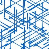 Modello generato da computer isometrico astratto 3D Immagini Stock Libere da Diritti