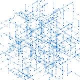Modello generato da computer isometrico astratto 3D Fotografie Stock Libere da Diritti