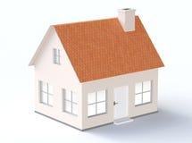 Modello generico della casa con il tetto pendente Fotografie Stock Libere da Diritti