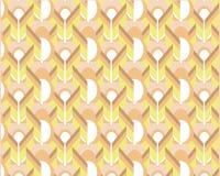 Modello geometrico astratto con le linee ondulate, bande, diamanti illustrazione di stock