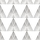 Modello geometrico astratto con le linee, quadrati Una priorità bassa senza giunte Struttura blu scuro Immagine Stock