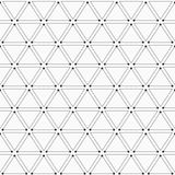 Modello geometrico astratto dei triangoli con i punti sul corne Fotografia Stock Libera da Diritti