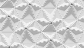Modello geometrico astratto protetto bianco Stile di carta di origami fondo della rappresentazione 3D Fotografia Stock Libera da Diritti