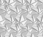 Modello geometrico astratto protetto bianco Stile di carta di origami fondo della rappresentazione 3D Immagini Stock Libere da Diritti