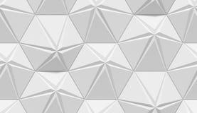 Modello geometrico astratto protetto bianco Stile di carta di origami fondo della rappresentazione 3D illustrazione vettoriale