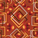 Modello geometrico astratto su un fondo rosso Vector il reticolo senza giunte sottragga la priorità bassa Fotografie Stock Libere da Diritti