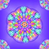 Modello geometrico - astrazione del fiore cosmico illustrazione vettoriale