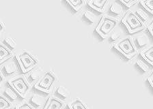Modello geometrico bianco e grigio del fondo dell'estratto del modello illustrazione di stock