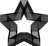Modello geometrico in bianco e nero Immagine Stock Libera da Diritti