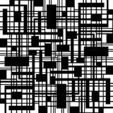 Modello geometrico in bianco e nero astratto Fotografia Stock