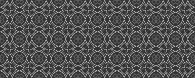 Modello geometrico in bianco e nero nello stile giapponese per la vostra progettazione Reticolo senza giunte fotografia stock libera da diritti